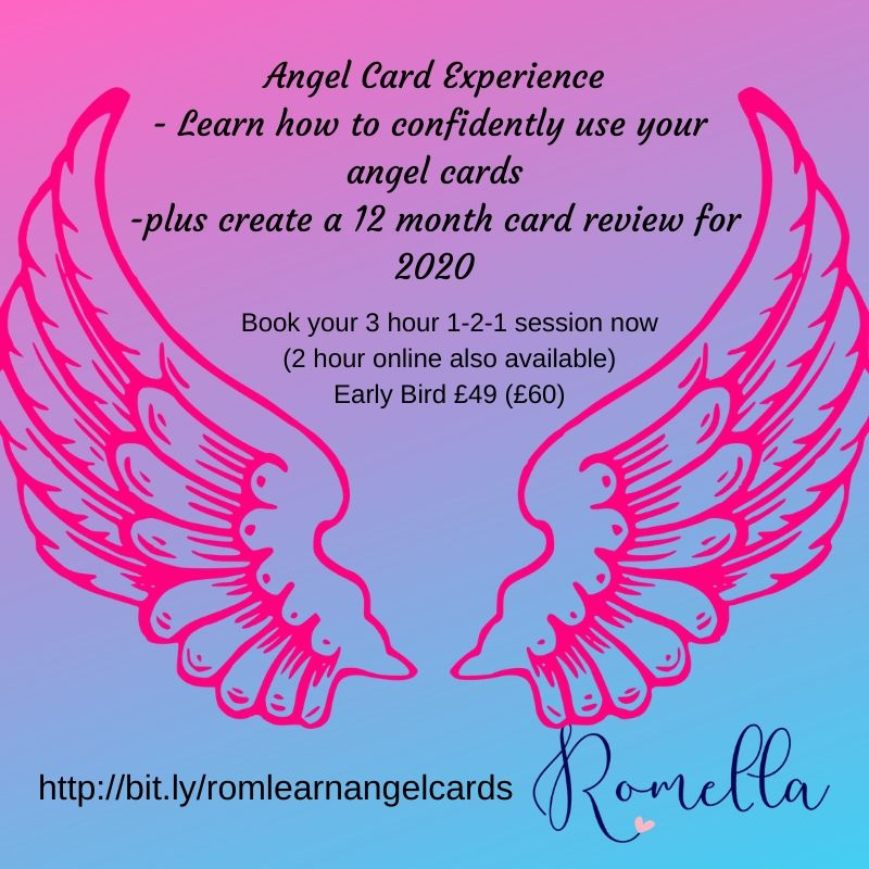 Angel Card Experience - learn to read angel cards and create a 12 month review